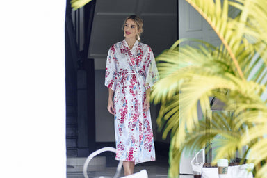Orchid Kimono Robe (Ankle) - Sleepwear for Women - The Mariposa Collection - Naiise