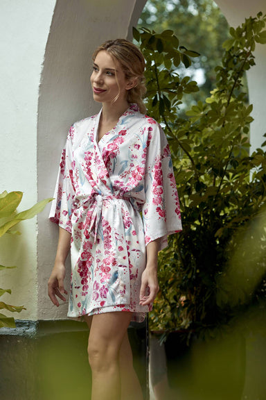 Orchid Kimono Robe (Short) - Sleepwear for Women - The Mariposa Collection - Naiise