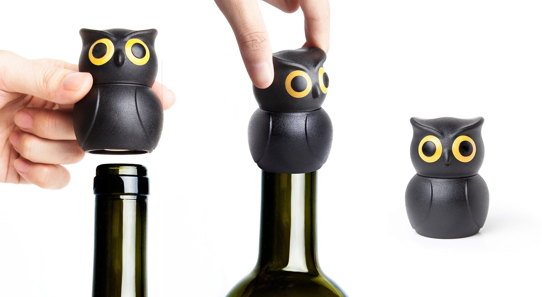 Owl Wine Stopper Wine Accessories Qualy