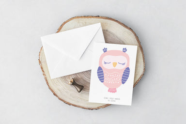 Owl(Love) Card Love Cards YOUNIVERSE DESIGN