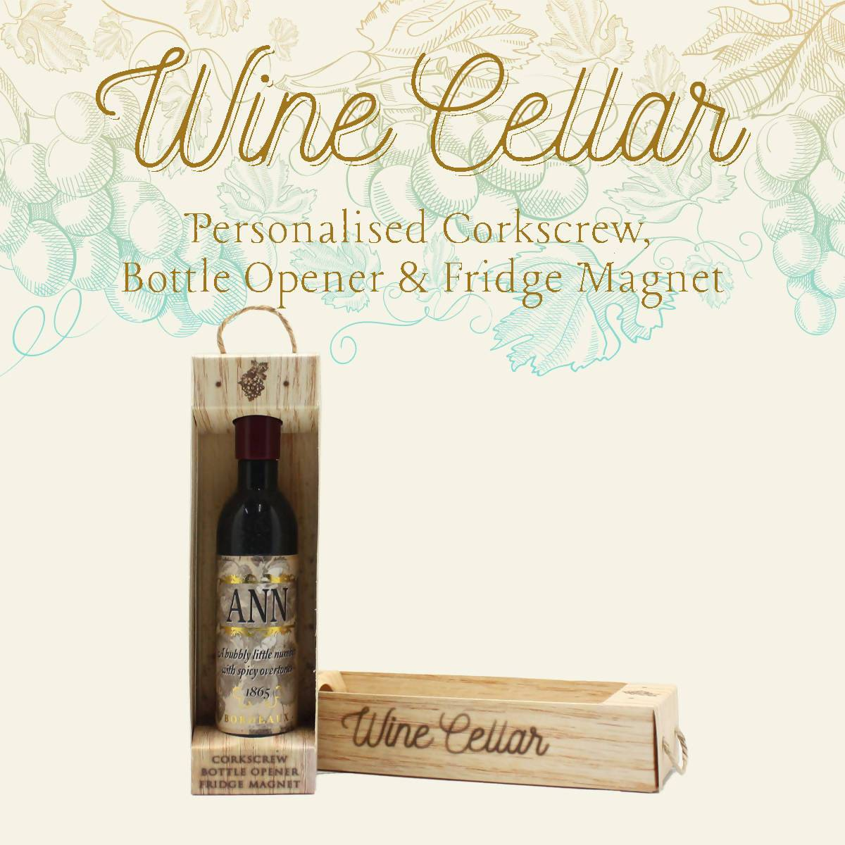 WINE CELLAR - For Wine Lover : Ann - Bottle Openers - La Belle Collection - Naiise