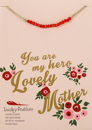 Lucky Feather - You Are My Hero Lovely Mother Necklace - Necklaces - The Planet Collection - Naiise