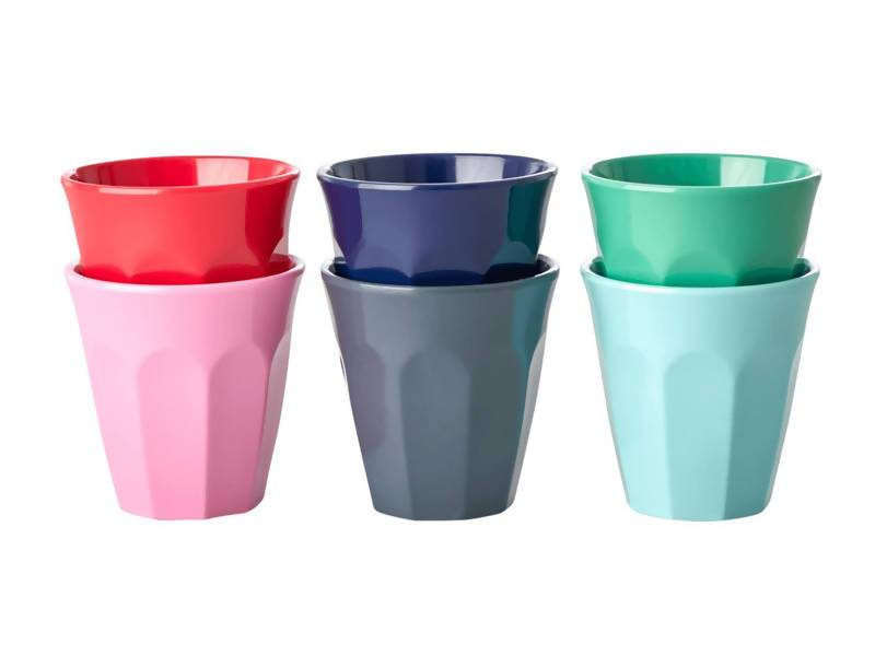 Melamine Espresso Cups in Assorted 'Believe in Red Lipstick' Colors - Kitchenware - The Children's Showcase - Naiise