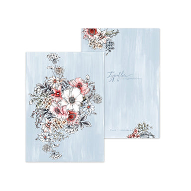 Pale Blue Bouquet Pocket Notebook - Notebooks - Typoflora - Naiise