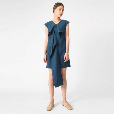 Palermo Tie-back Dress in Peacock Dresses Salient Label