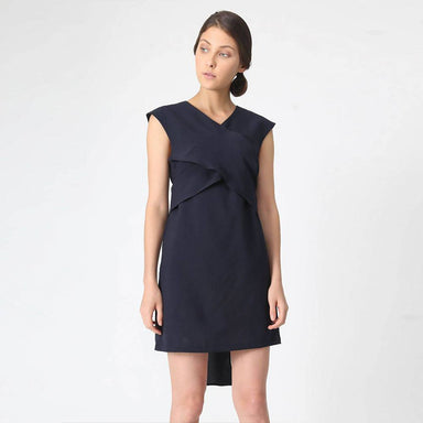 Palermo Tie-back Dress in Pirate Black - Dresses - Salient Label - Naiise