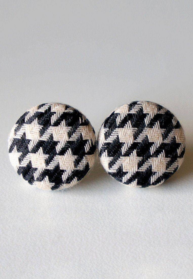 Papa Houndstooth Stud Earrings - Earrings - Paperdaise Accessories - Naiise