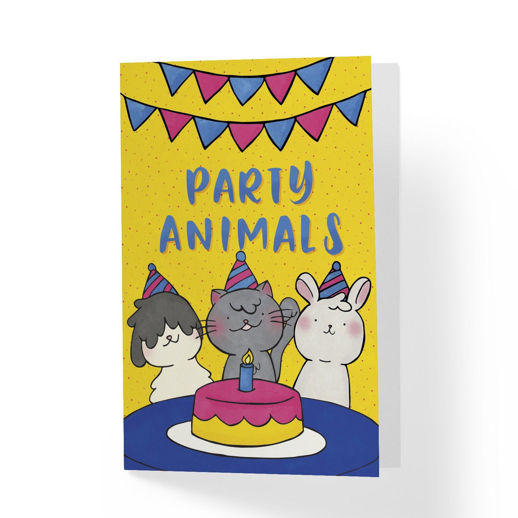Party Animals Greeting Card Generic Greeting Cards A Wild Exploration