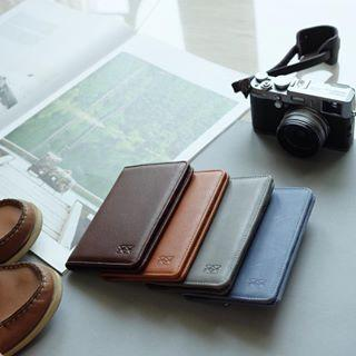 Passport Wallet Passport Holders Welkin & Spine Dark Brown