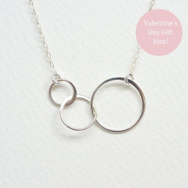 Past Present Future Necklace - Sterling Silver Necklaces JL Heart