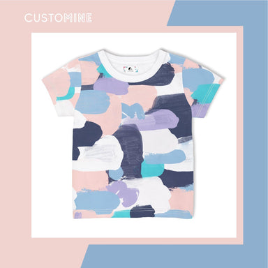 Pastel Paint Kid's T-Shirt Local Baby Clothing CUSTOMINE 1-3Y Pink Pastel