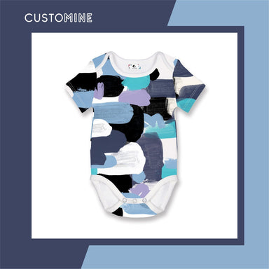 Pastel Paint Romper Local Baby Clothing CUSTOMINE 0-3M Blue Pastel