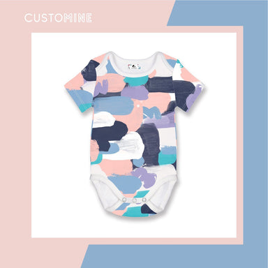 Pastel Paint Romper Local Baby Clothing CUSTOMINE 0-3M Pink Pastel