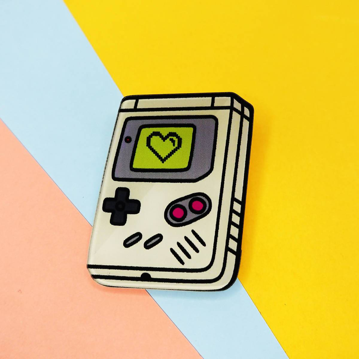 Pause Retro Pin Badge - Pins - Artably - Naiise