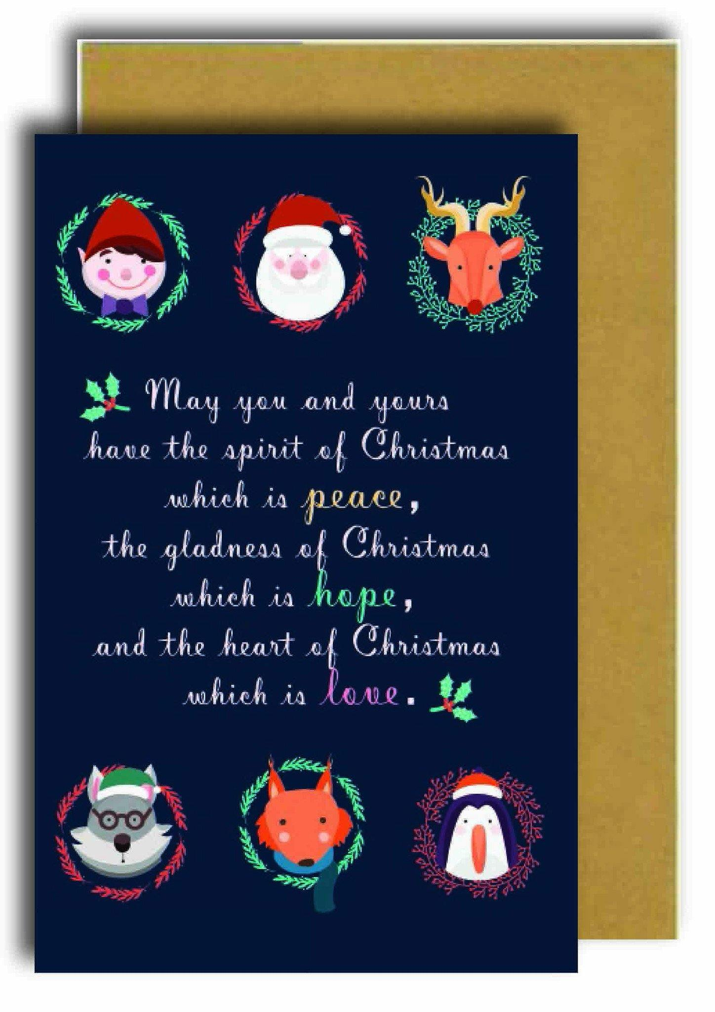 Peace - Hope - Love Greeting Card - Generic Greeting Cards - Papermix - Naiise