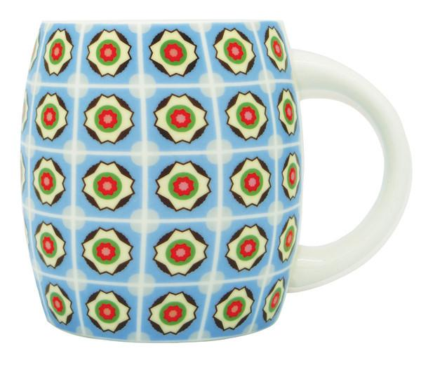 Peranakan Tiles Mug Local Mugs Now&Then Blue