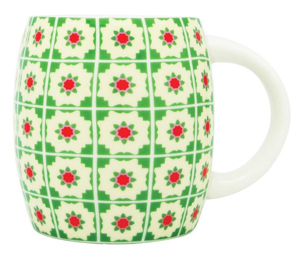 Peranakan Tiles Mug Local Mugs Now&Then Green