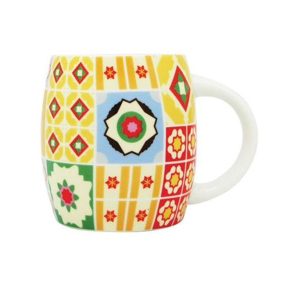 Peranakan Tiles Mug Local Mugs Now&Then Multi-colored