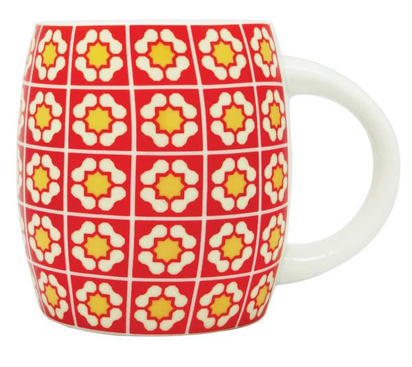 Peranakan Tiles Mug Local Mugs Now&Then Red
