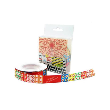 Peranakan Tiles Ribbon Wrapping Papers Now&Then