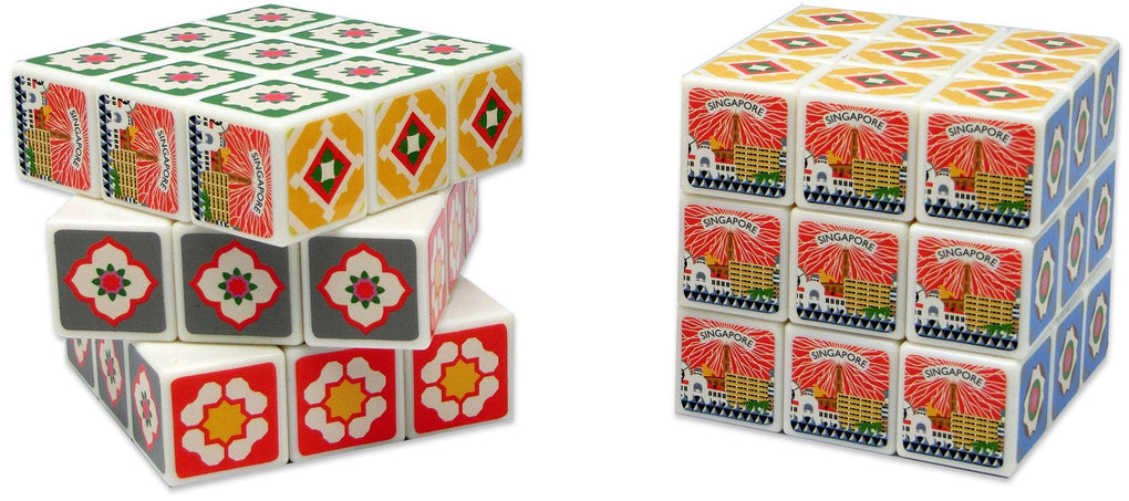 Peranakan Tiles Rubik's Cube Local Games Now&Then