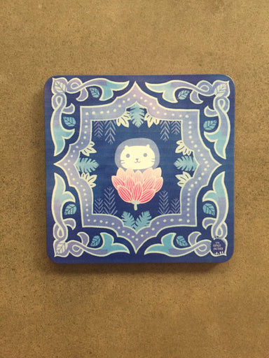 Peranakan Wooden Coaster - Blue Garden - Local Coasters - The Forest Factory - Naiise