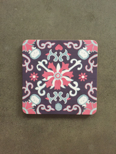Peranakan Wooden Coaster - Serenity - Local Coasters - The Forest Factory - Naiise