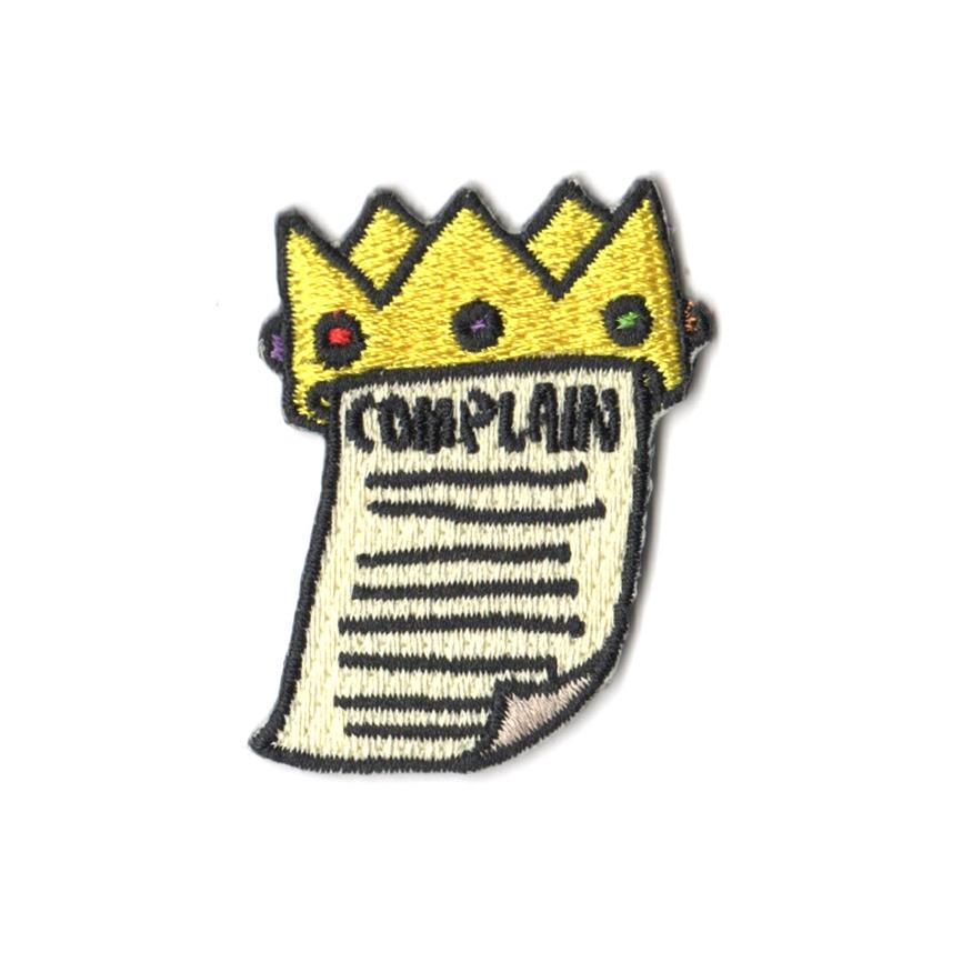 Pew Pew x Tobyato: Complain King Patch Iron On Patches Pew Pew Patches