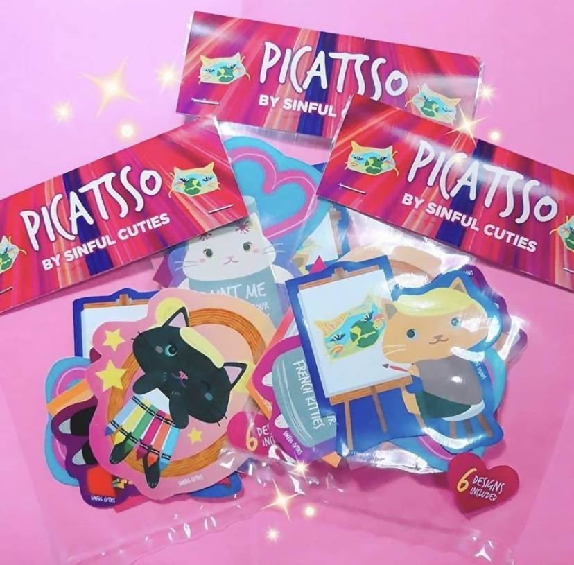 Picatsso - 6 pcs Sticker Pack - Stickers - Sinful Cuties - Naiise