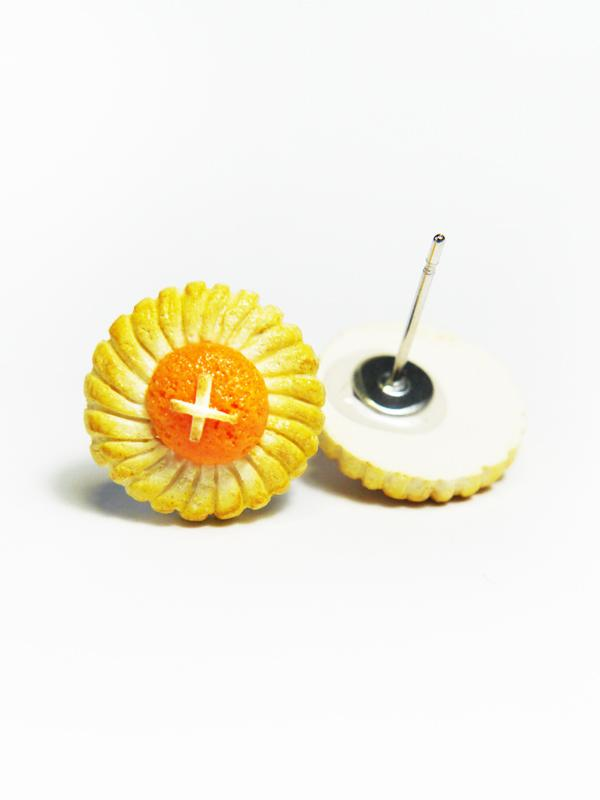 Pineapple Cookies Stud Earrings Local Jewellery TinyPinc Miniatures