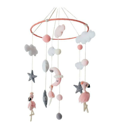 Pink Flamingo Crib Mobile - Kids Toys - Little Happy Haus - Naiise