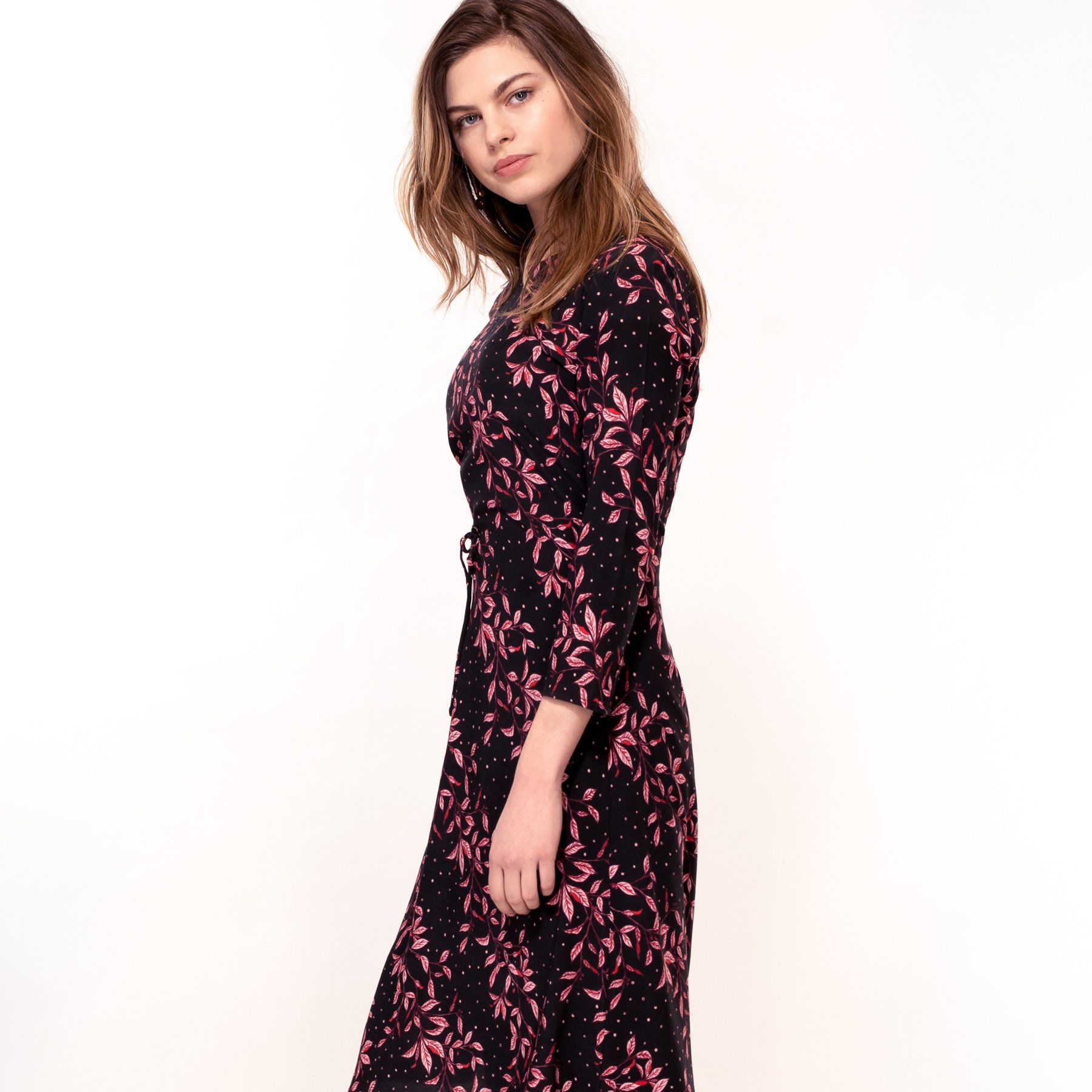 Pink Leaf Print Dress (Pre-Order) - Dresses - Hide The Label - Naiise