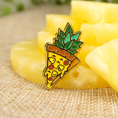 Pizza Pineapple Enamel Pin - Pins - John Moniker - Naiise