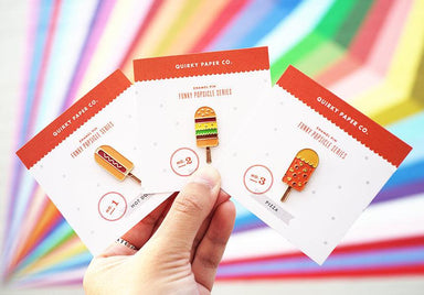 Pizza Popsicle - Enamel Pin Pins Quirky Paper Co.