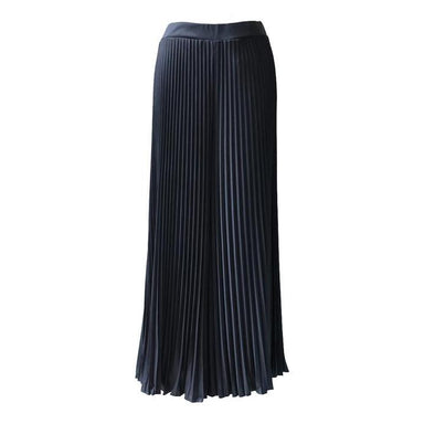 Pleated Cullotes in Black (Maxi) (Pre-Order) - Women's Pants - Ans.ein - Naiise