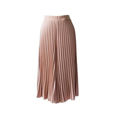 Pleated Cullotes in Nude (Midi) (Pre-Order) - Women's Pants - Ans.ein - Naiise