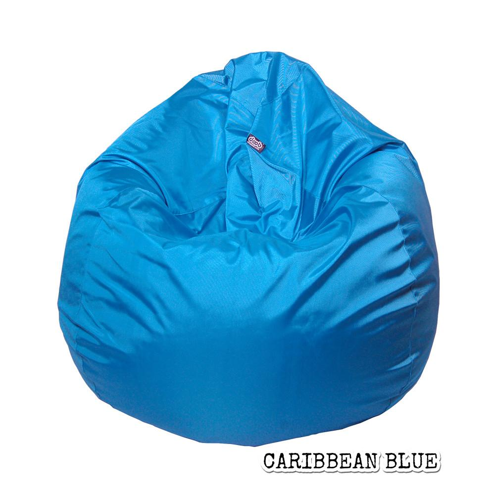 Plop Bean Bag | Medium Bean Bags doob® Caribbean Blue Filled