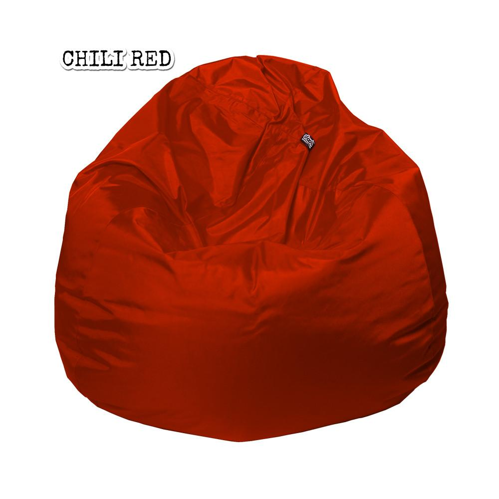 Plop Bean Bag | Medium Bean Bags doob® Chilli Red Filled