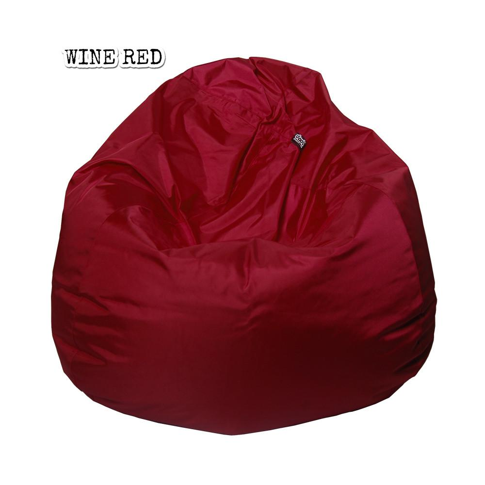 Plop Bean Bag | Medium Bean Bags doob® Wine Red Filled