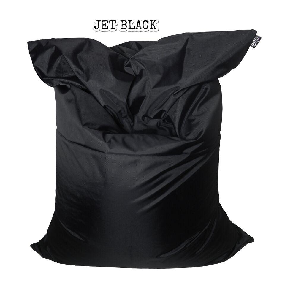 Plopsta' Bean Bag Bean Bags doob® Medium Jet Black Filled