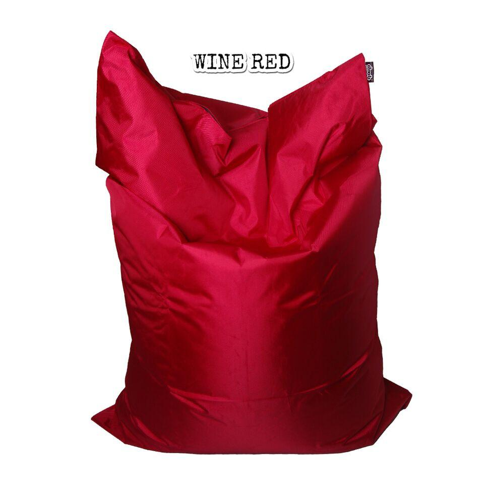 Plopsta' Bean Bag Bean Bags doob® Medium Wine Red Filled