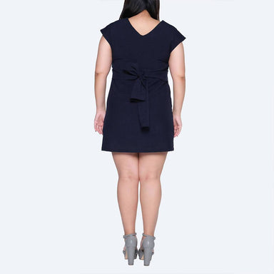 Plus Size Palermo Tie-back Dress in Pirate Black - Dresses - Salient Label - Naiise