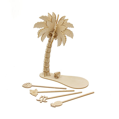 Plywood - Coconut Tree Aroma Stand Model Kits Team Green