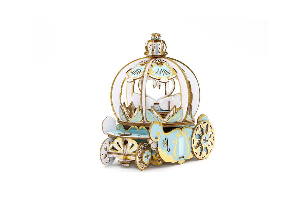 Plywood - Pumpkin Coach Music Box with Ring Holder Model Kits Team Green