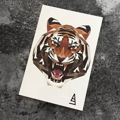 Polygon Tiger Temporary Tattoo - Temporary Tattoos - Imagine Playbook - Naiise