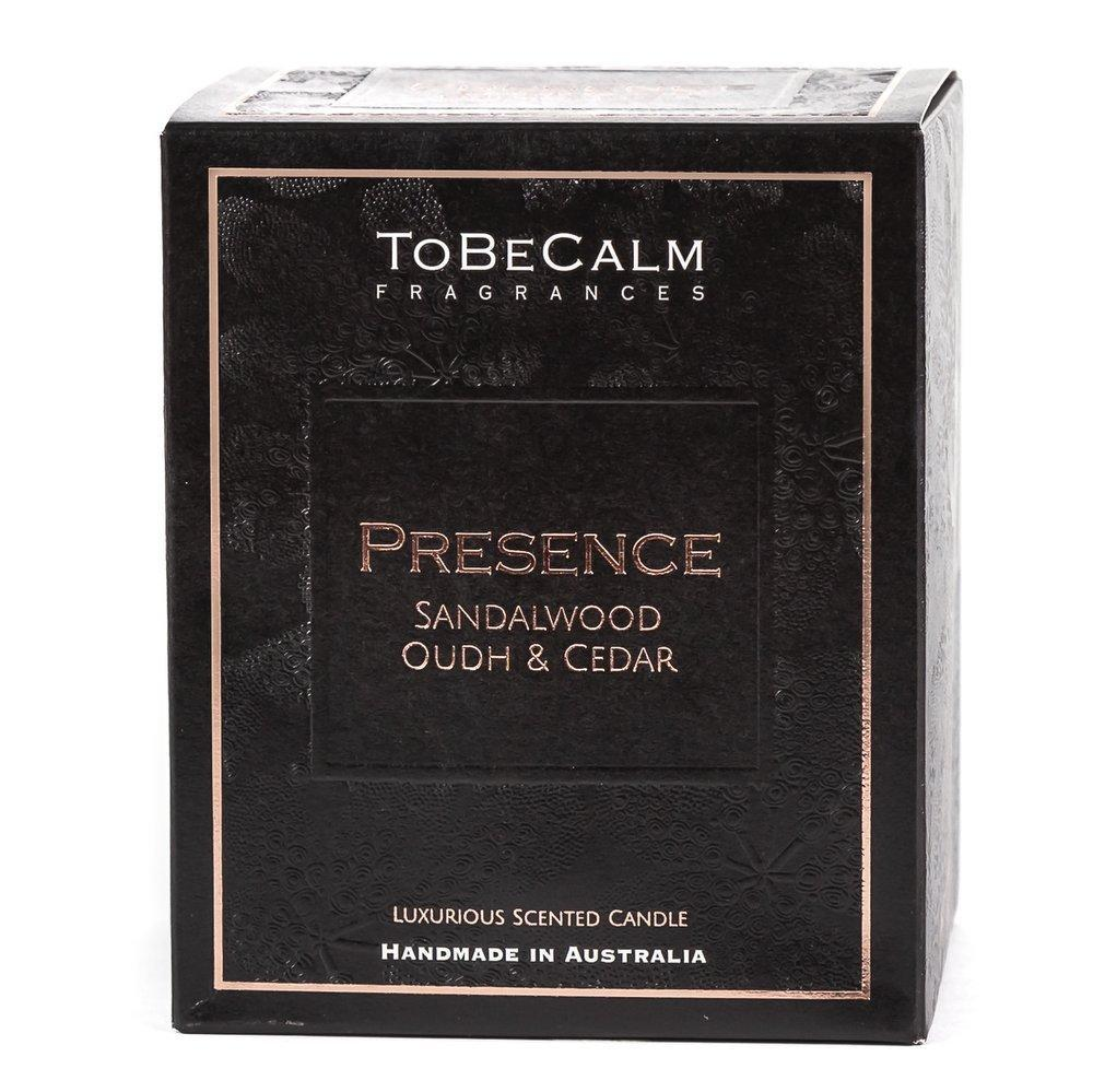 Presence - Sandalwood, Oudh & Cedar - Extra Large Soy Candle Scented Candles To Be Calm