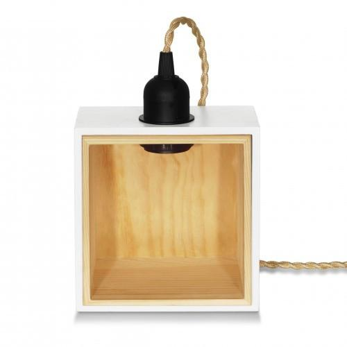 Private Corner Lamp Holder - White Table Lamps DarkSteve