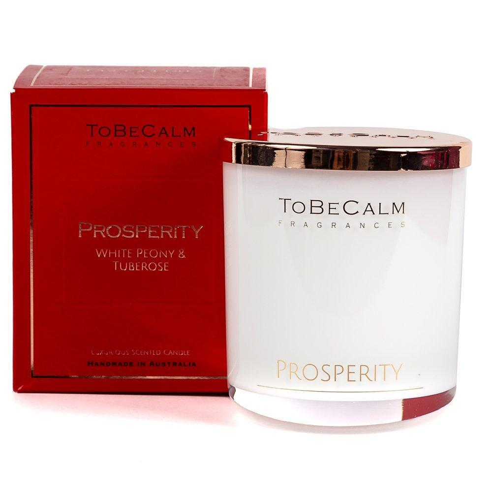 Prosperity - White Peony & Tuberose - Extra Large Soy Candle Scented Candles To Be Calm