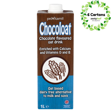 Provitamil Chocolate Oatmilk (6 x 1L) - Beverages - Zesty Leaf - Naiise