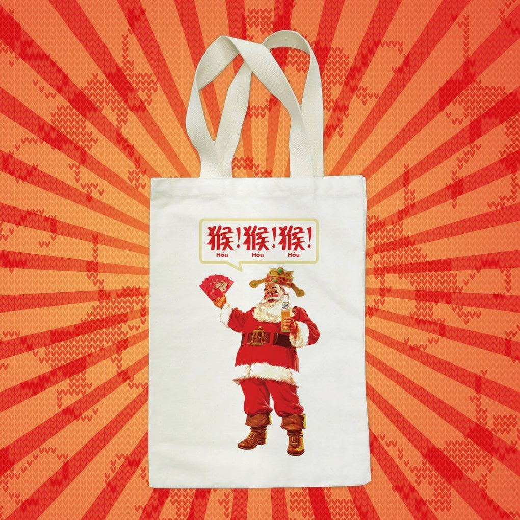 Punny CNY Santa Tote Bag Tote Bags Just Saying Tees